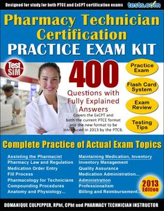 pharmacy technician certification test study guide