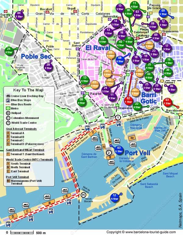 barcelona tourist guide metro map