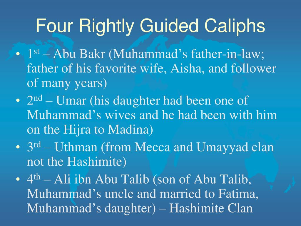 four rightly guided caliphs timeline