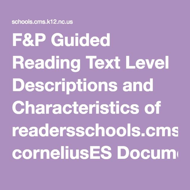 guided reading fountas and pinnell pdf