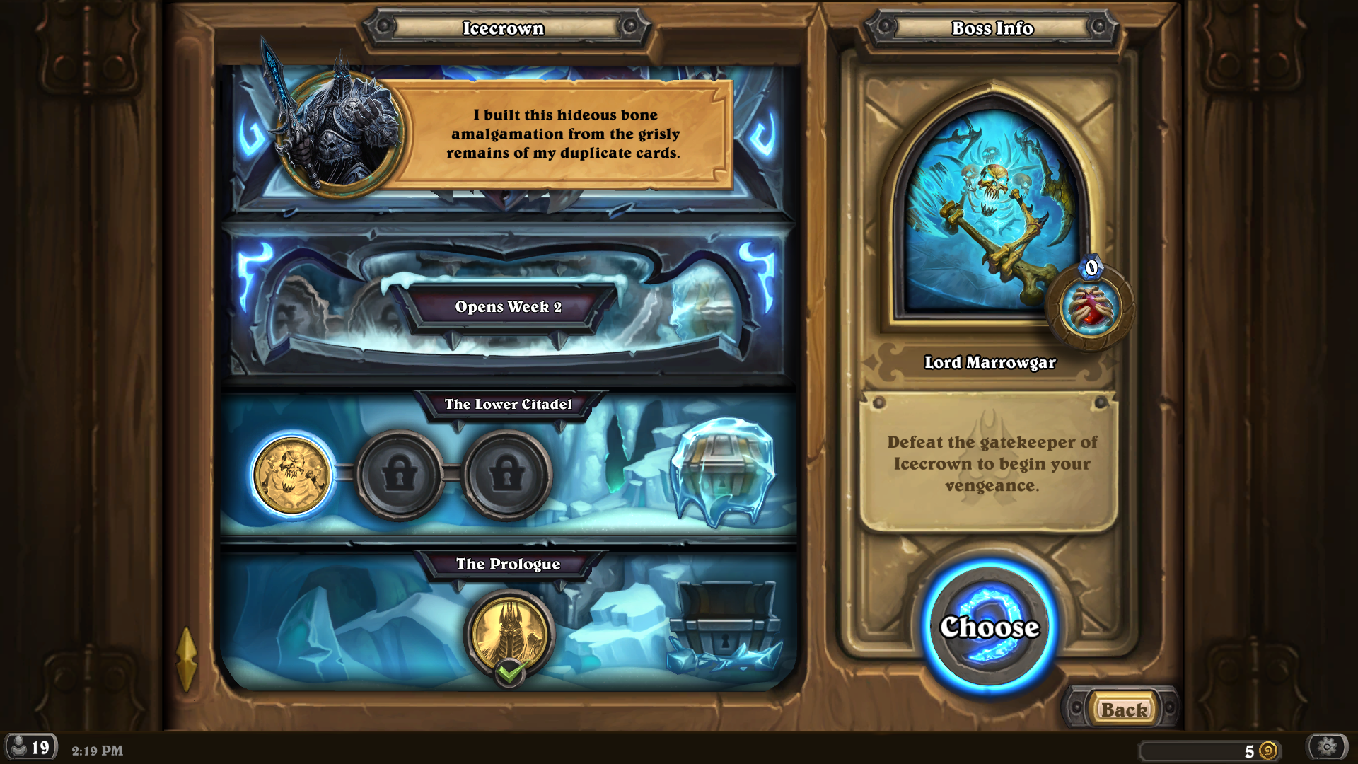 the frozen throne hearthstone guide