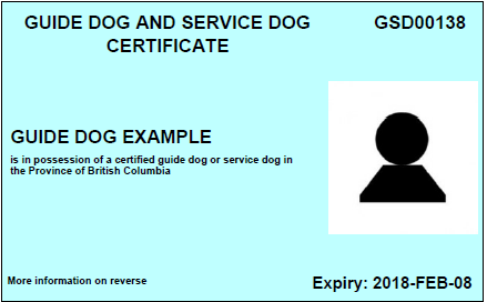 bc guide dog and service dog act