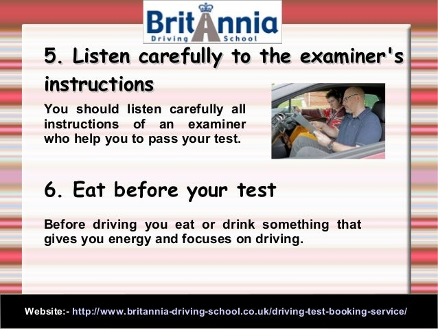 guide to passing driving test