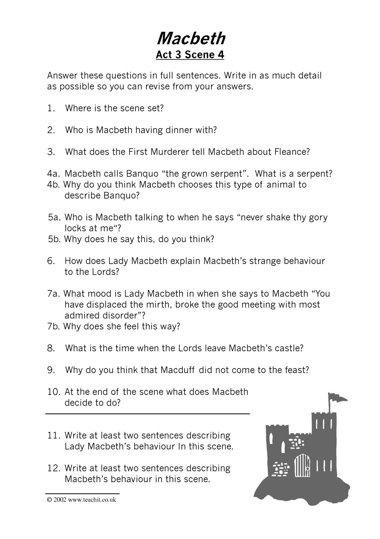 macbeth act 4 study guide questions and answers