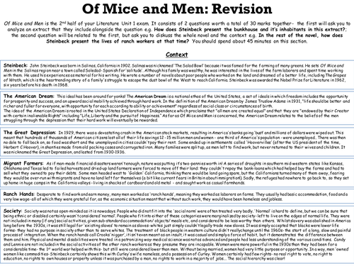 of mice and men study guide
