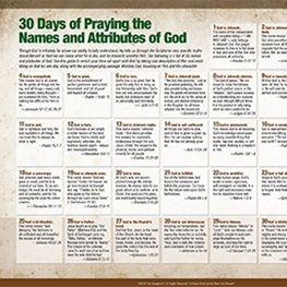 praying the names of god a daily guide
